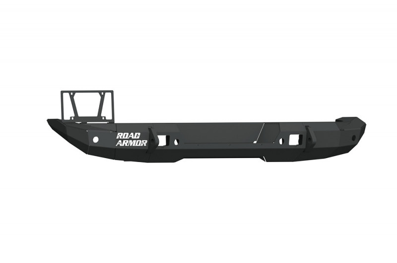 Road Armor Stealth Rear Bumper Mid Width ONLY w/ Tire Carrier Hole - Texture Black (18-20 Jeep Wrangler JL)