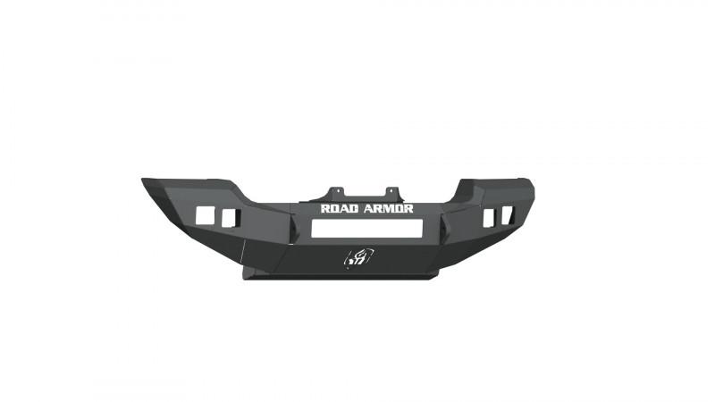 Road Armor Stealth Front Winch Bumper Full Width SPORT/SAHARA - Texture Black   WARN PowerPlant (18-20 Jeep Wrangler JL)