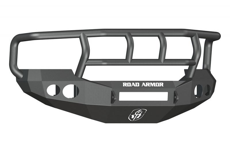 Road Armor Stealth Front Non-Winch Bumper w/ Titan II Guard Wide Flare - Texture Black (05-07 Ford F-250/F-350/Excursion)
