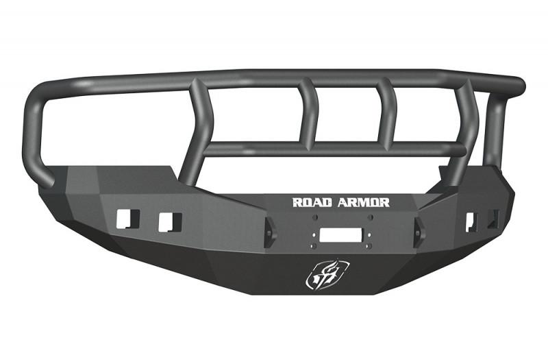 Road Armor Stealth Front Winch Bumper w/ Titan II Guard Wide Flare - Texture Black   WARN 16.5ti (05-07 Ford F-250/F-350/Excursion)