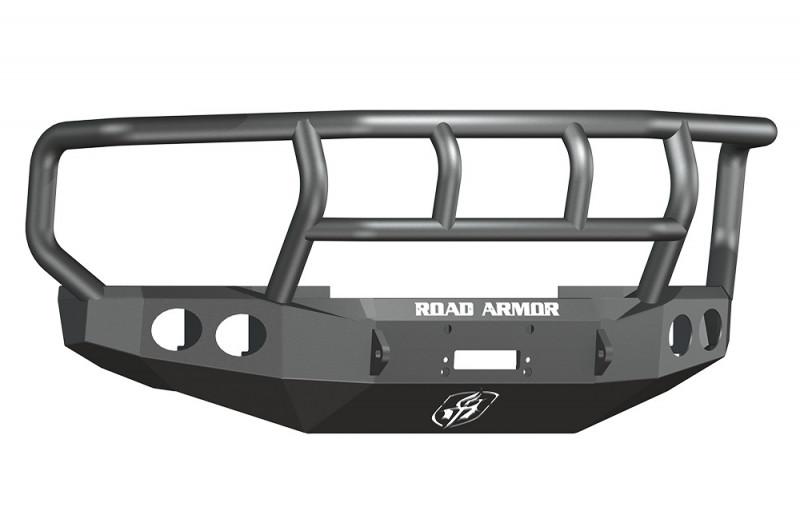 Road Armor Stealth Front Winch Bumper w/ Titan II GuardWide Flare - Texture Black | WARN 16.5ti (08-10 Ford F-250/F-350)
