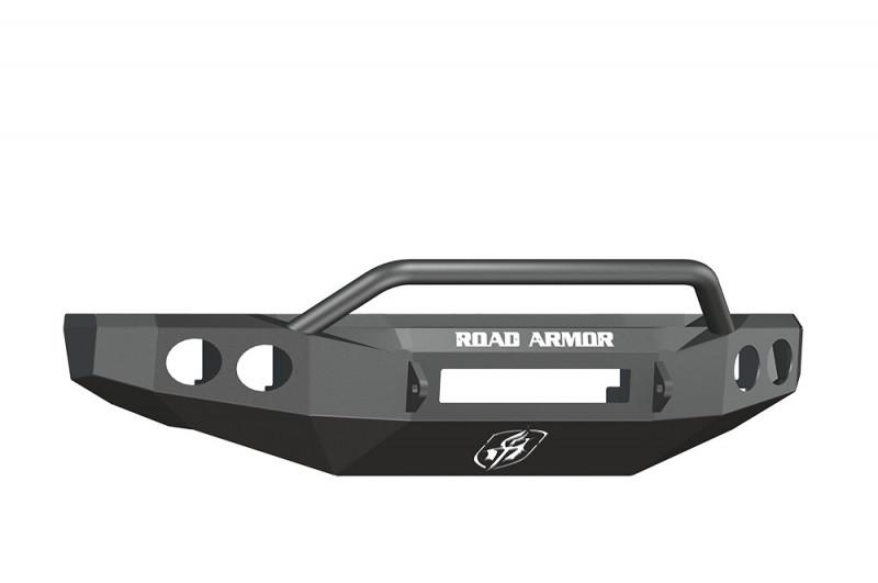 Road Armor Stealth Front Non-Winch Bumper w/ Pre-Runner Guard - Texture Black (08-10 Ford F-250/F-350)