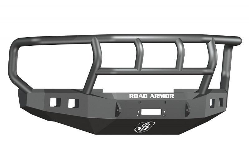 Road Armor Stealth Front Winch Bumper w/ Titan II Guard Wide Flare - Texture Black   WARN 16.5ti (08-10 Ford F-250/F-350)