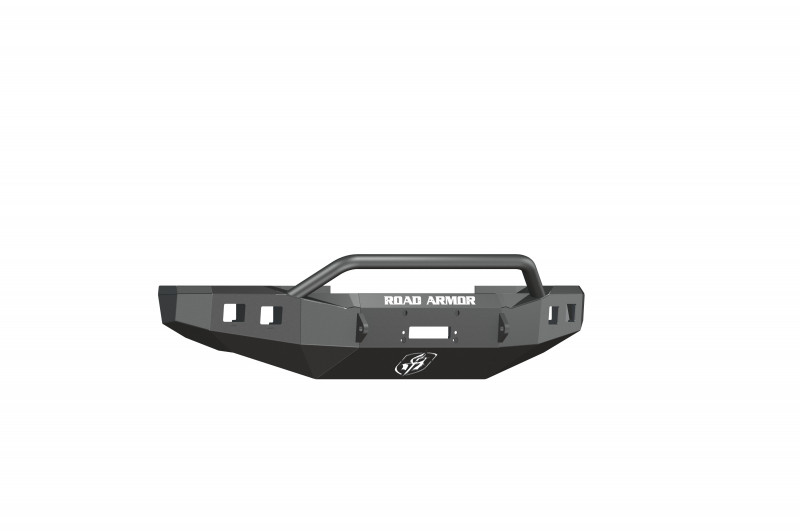 Road Armor Stealth Front Winch Bumper w/ Pre-Runner Guard - Texture Black | WARN 16.5ti (08-10 Ford F-250/F-350)