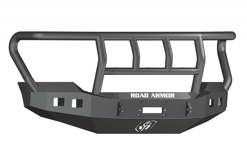 Road Armor Stealth Front Winch Bumper w/ Titan II Guard Standard Flare - Texture Black   WARN 16.5ti (11-16 Ford F-250/F-350)