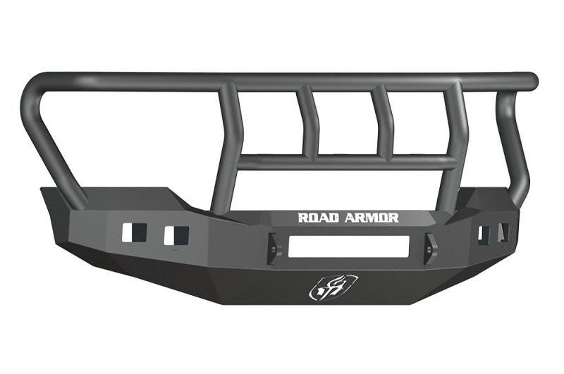 Road Armor Stealth Front Non-Winch Bumper w/ Titan II Guard Standard Flare - Texture Black (11-16 Ford F-250/F-350)