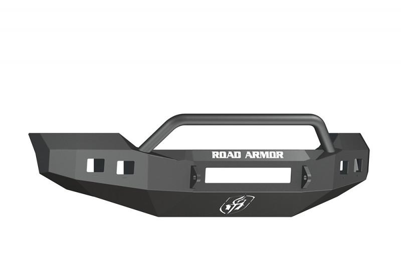 Road Armor Stealth Front Non-Winch Bumper w/ Pre-Runner Guard - Texture Black (11-16 Ford F-250/F-350)