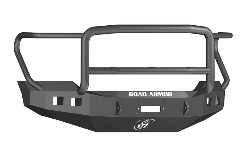 Road Armor Stealth Front Winch Bumper w/ Lonestar Guard - Texture Black | WARN 16.5ti (11-16 Ford F-250/F-350)