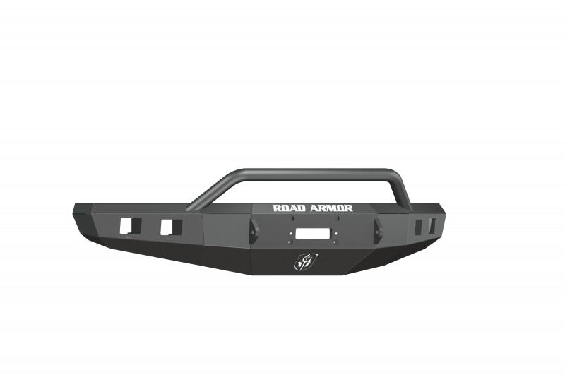 Road Armor Stealth Front Winch Bumper w/ Pre-Runner Guard - Texture Black | WARN M12000/Smittybilt XRC (15-17 Ford F-150)