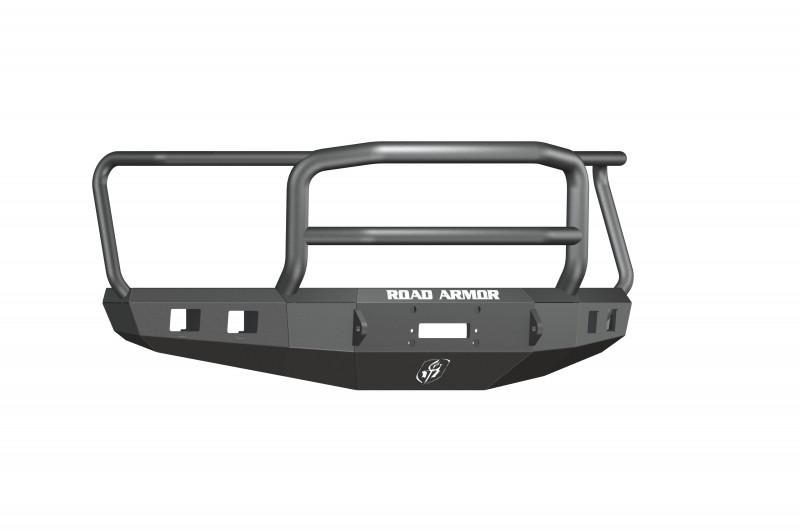 Road Armor Stealth Front Winch Bumper w/ Lonestar Guard - Texture Black   WARN M12000/Smittybilt XRC (15-17 Ford F-150)
