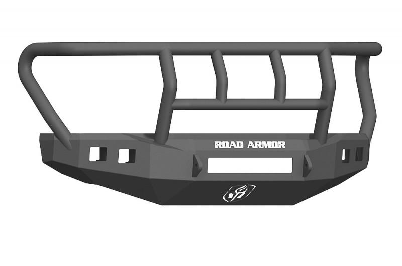 Road Armor Stealth Front Non-Winch Bumper w/ Titan II Guard Standard Flare - Texture Black (17-20 Ford F-250/F-350)