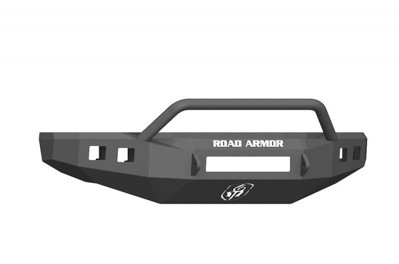 Road Armor Stealth Front Non-Winch Bumper w/ Pre-Runner Guard - Texture Black (17-20 Ford F-250/F-350)