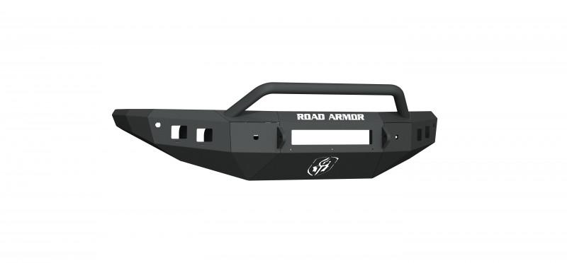 Road Armor Stealth Front Non-Winch Bumper Sheet Metal w/ Pre-Runner Guard - Texture Black (16-19 Nissan Titan)