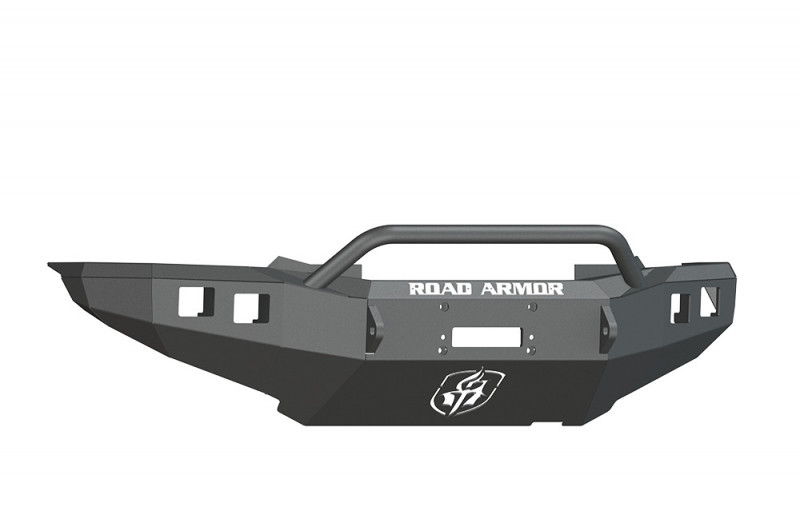 Road Armor Stealth Front Winch Bumper w/ Pre-Runner Guard - Texture Black | WARN M8000 or 9.5xp (12-15 Toyota Tacoma)