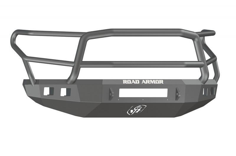 Road Armor Stealth Front Non-Winch Bumper w/ Lonestar Guard - Texture Black (14-20 Toyota Tundra)