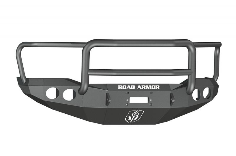 Road Armor Stealth Front Winch Bumper w/ Lonestar Guard - Texture Black | WARN M8000 or 9.5xp (07-13 Toyota Tundra)
