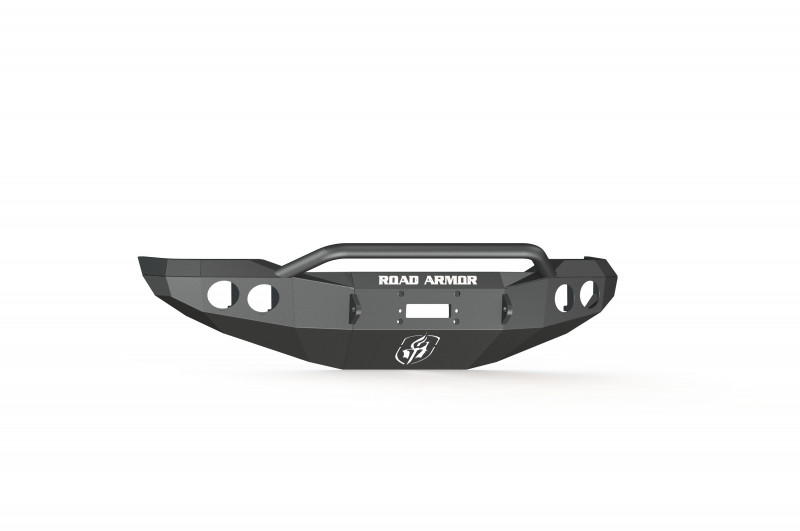 Road Armor Stealth Front Winch Bumper w/ Pre-Runner Guard - Texture Black | WARN M8000 or 9.5xp (07-13 Toyota Tundra)