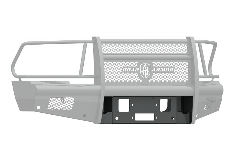 Road Armor Vaquero Front Winch Plate - Texture Black | WARN 16.5ti (2010-2018 Ram 2500/3500)