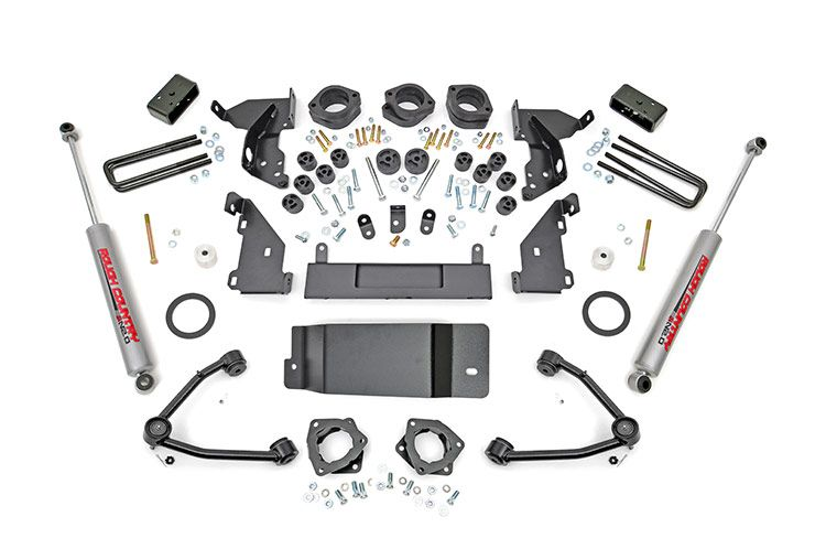 "Rough Country 4.75"" GM Combo Lift Kit w/  Upper Control Arms) - Aluminum"