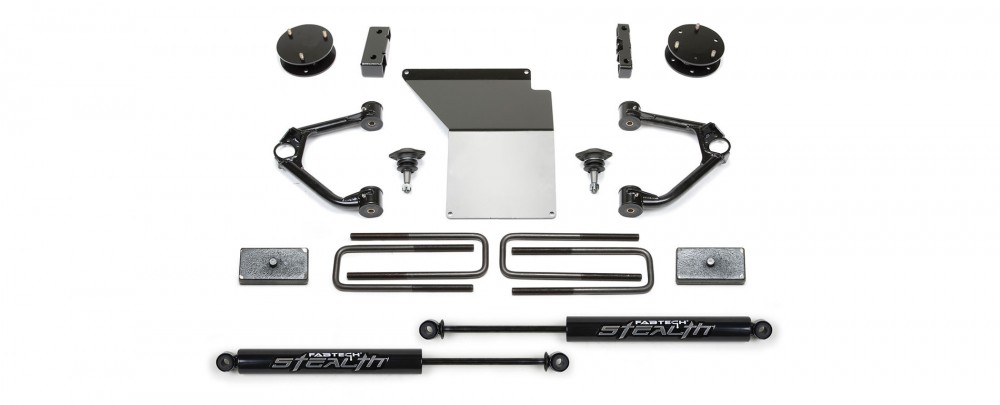 "Fabtech 4"" Budget System w/   Ball Joint UCA & Rear Performance Shocks - 2007-13 GM 1500 2WD/4WD"