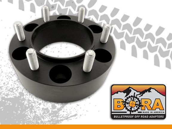 "Aluminum 2.5"" BORA Spacers (pair 2) 5 or 6 lug All makes and models"