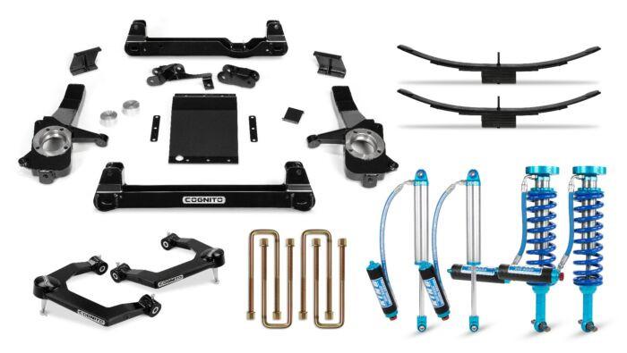 Cognito 4 Inch Elite Lift Kit | 19+ Chevrolet Trail Boss & GMC AT4 1500 Trucks | King 2.5 Remote Reservoir Shocks