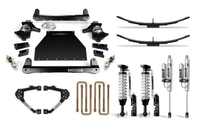 Cognito 4 Inch Elite Lift Kit   07-18 Chevrolet & GMC 1500   OE Cast Steel Control Arms