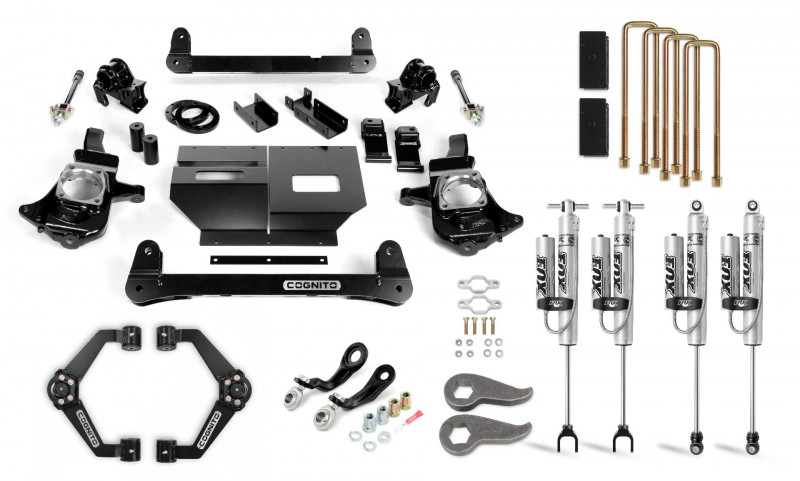 Cognito 6 Inch Performance Lift Kit   11-19 Chevrolet & GMC 2500/3500   Fox 2.0 Remote Reservoir Shocks