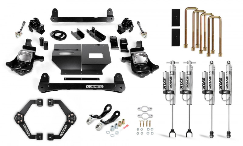 Cognito 4 Inch Performance Lift Kit | 11-19 Chevrolet & GMC 2500/3500 | Fox 2.0 Remote Reservoir Shocks