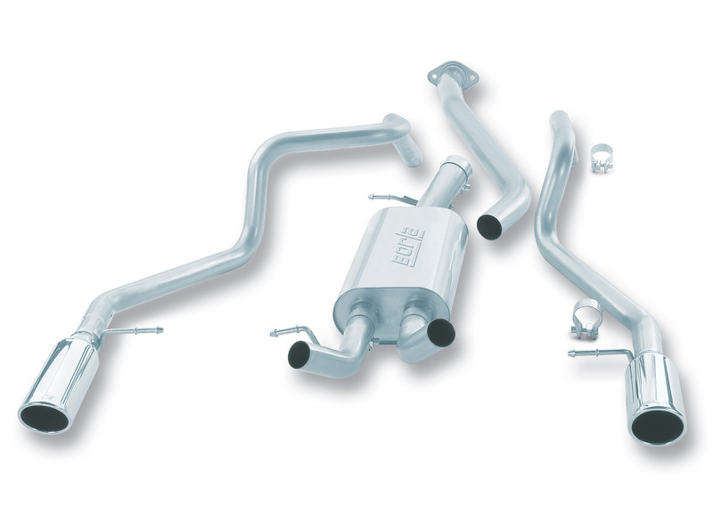 Borla Cat-Back Exhaust System Bright Chrome On Stainless Steel Tips 99-07 Chevrolet Silverado 1500 & GMC Sierra 1500 4.8L/5.3L V8
