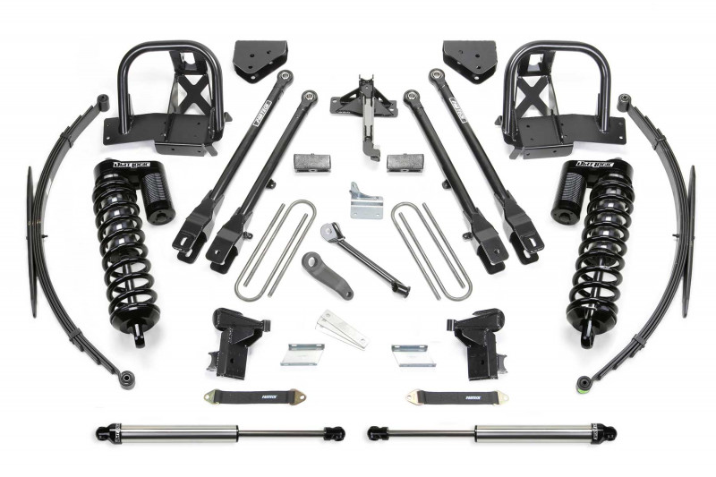 "Fabtech 10"" 4 Link System w/   Dirt Logic SS 4.0 Coilovers & Rear Dirt Logic SS Shocks - 2008-10 Ford F250 4WD"