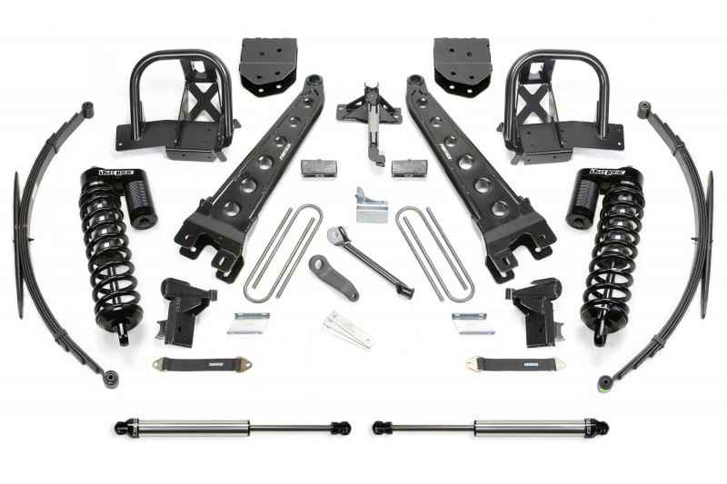 "Fabtech 10"" Radius Arm System w/   Dirt Logic SS 4.0 Coilovers & Rear Dirt Logic SS Shocks - 2008-10 Ford F350 4WD"