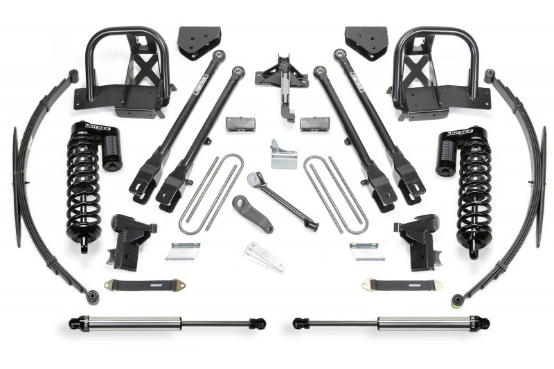 "Fabtech 10"" 4 Link System w/  Dirt Logic SS 4.0 Coilovers & Rear Dirt Logic SS Shocks - 2011-16 Ford F250 4WD"