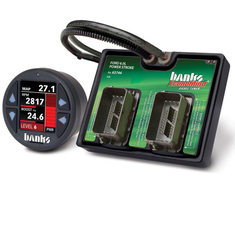 Banks Power EconoMind Diesel Tuner PowerPack Calibration W/ iDash 1.8 SuperGauge (03-07 Ford F250/F350 & 03-05 Excursion | 6.0L Power Stroke)