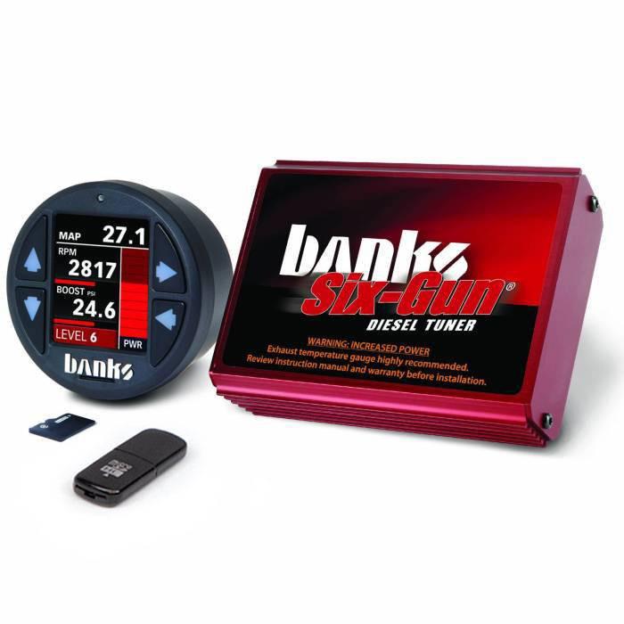 Banks Power Six -Gun Diesel Tuner W/ iDash 1.8 SuperGauge (07-10 Chevy/GMC 2500/3500 | 6.6L Duramax)