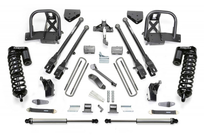 "Fabtech 6"" 4 Link System w/   Dirt Logic SS 4.0 Coilovers & Rear Dirt Logic SS Shocks - 2008-10 Ford F450/F550 4WD"