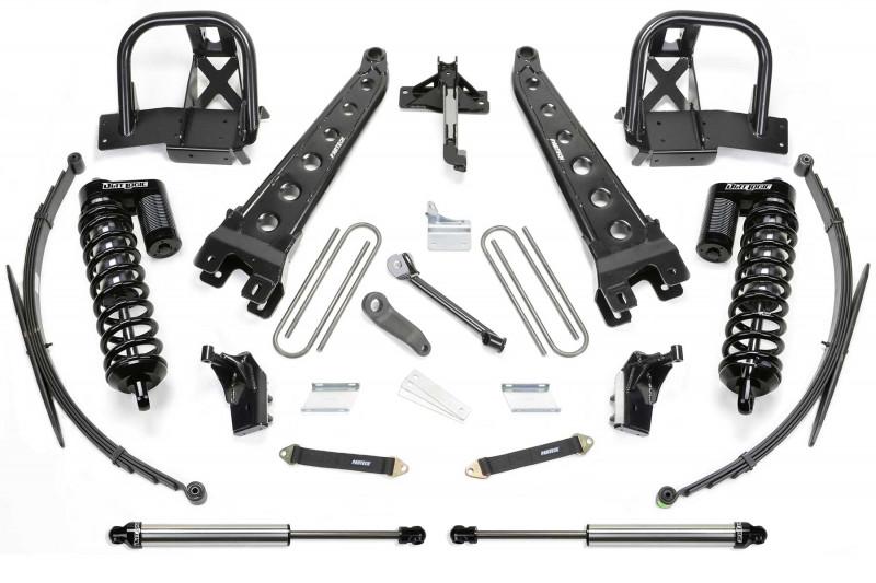 "Fabtech 8"" Radius Arm System w/   Front Dirt Logic SS 4.0 Coilovers & Rear Dirt Logic SS Shocks - 2011-16 Ford F250/F350 4WD & 2011-13 Ford F450 4WD (8 Lug)"