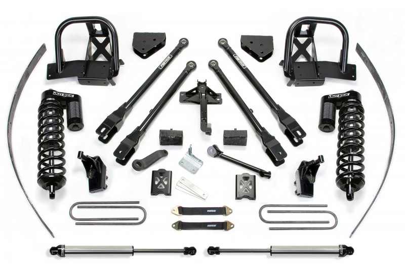 "Fabtech 8"" 4 Link System w/  Dirt Logic SS 4.0 Coilovers & Rear Dirt Logic SS Shocks - 2011-16 Ford F250 4WD w/   Factory Overload"