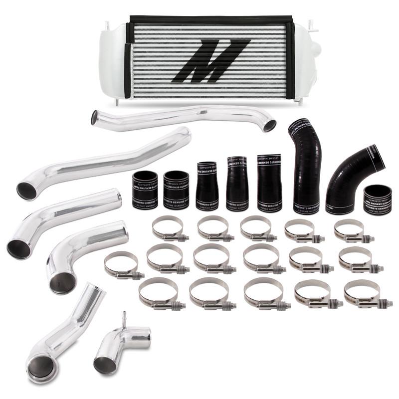 Mishimoto EcoBoost Performance Intercooler Kit - Silver Cooler Polished Pipes (17+ Ford F-150   3.5L V6)