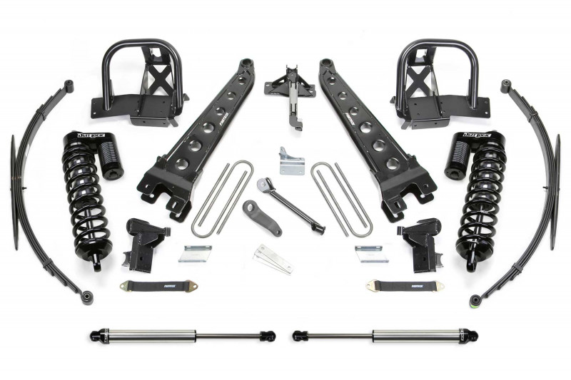 "Fabtech 8"" Radius Arm System w/   Dirt Logic SS 4.0 Coilovers & Rear Dirt Logic SS Shocks - 2008-10 Ford F250/F350 4WD"
