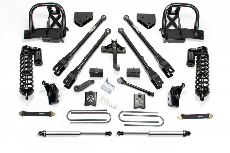 "Fabtech 6"" 4 Link System w/  Dirt Logic SS 4.0 Coilovers & Rear Dirt Logic SS Shocks - 2011-16 Ford F250 4WD"