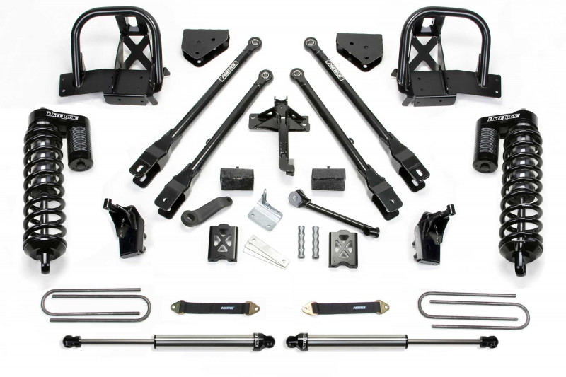 """Fabtech 6"""" 4 Link System w/   Front Dirt Logic SS 4.0 Coilovers & Rear Dirt Logic SS Shocks - 2005-07 Ford F350 4WD"""