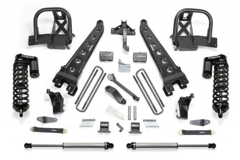 "Fabtech 6"" Radius Arm System w/   Front Dirt Logic SS 4.0 Coilovers & Rear Dirt Logic SS Shocks - 2011-13 Ford F450/F550 4WD (10 Lug Chassis Cab)"