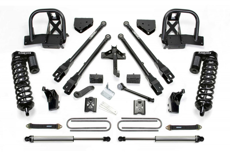 "Fabtech 6"" 4 Link System w/   Dirt Logic SS 4.0 Coilovers & Rear Dirt Logic SS Shocks - 2008-10 Ford F350 4WD"