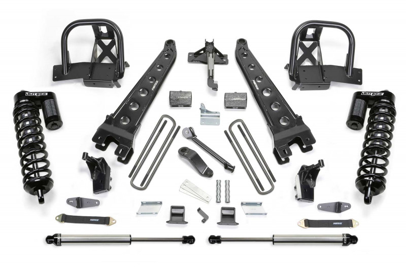 "Fabtech 6"" Radius Arm System w/   Dirt Logic SS 4.0 Coilovers & Rear Dirt Logic SS Shocks - 2008-10 Ford F450/F550 4WD"