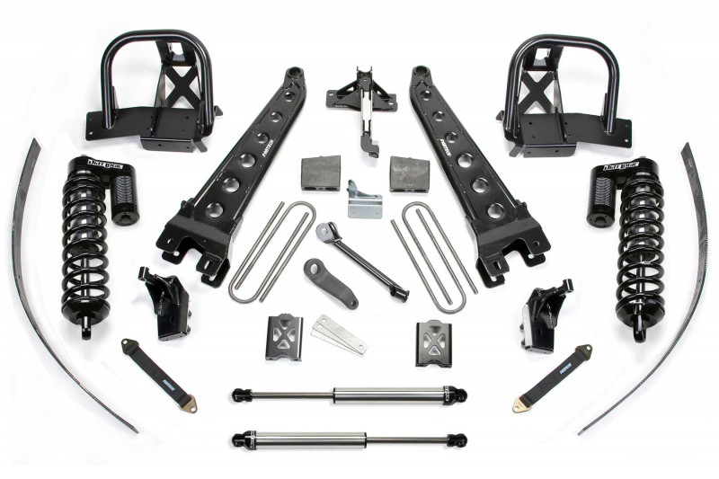 "Fabtech 8"" Radius Arm System w/   Dirt Logic SS 4.0 Coilovers & Rear Dirt Logic SS Shocks - 2005-07 Ford F350 4WD"