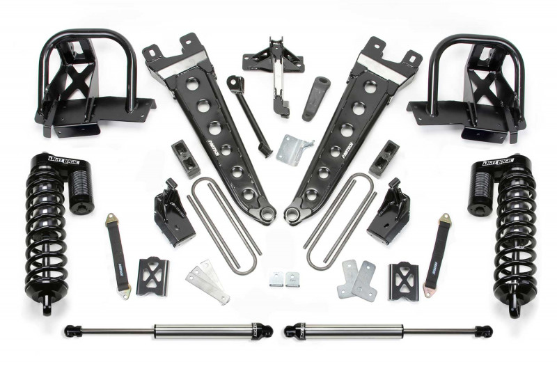 "Fabtech 6"" Radius Arm System w/   Dirt Logic SS 4.0 Coilovers & Rear Dirt Logic SS Shocks - 2005-07 Ford F350 4WD"