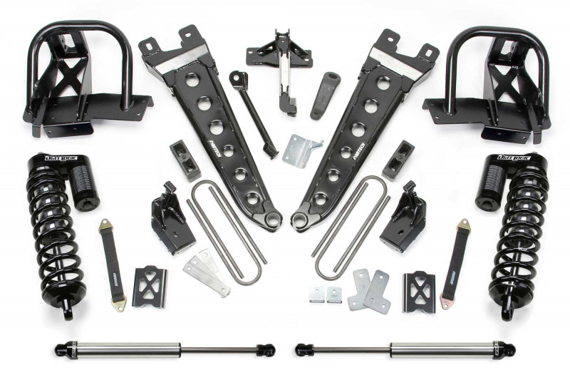 "Fabtech 6"" Radius Arm System w/   Dirt Logic SS 4.0 Coilovers & Rear Dirt Logic SS Shocks - 2008-10 Ford F250 4WD"