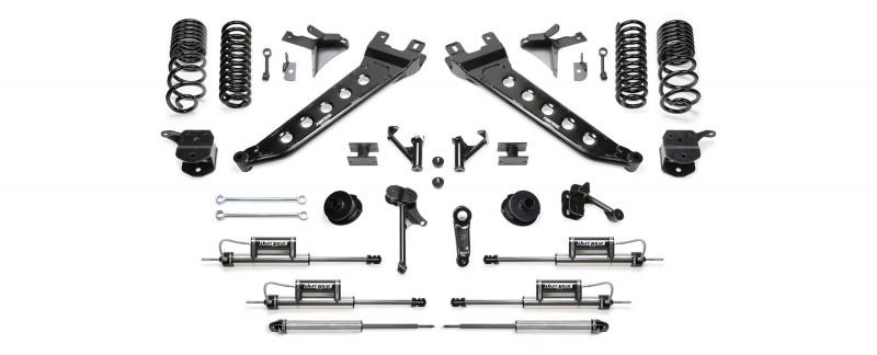 "Fabtech 7"" Radius Arm System w/  Coil Springs & Front Dual Dirt Logic 2.25 Resi Shocks & Rear Dirt Logic Shocks - Ram 2500 4WD"