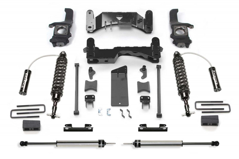 "Fabtech 6"" Performance System w/   Front Dirt Logic SS 2.5 Coilover Resi & Rear Dirt Logic SS Shocks - 2007-15 Toyota Tundra 2WD/4WD"